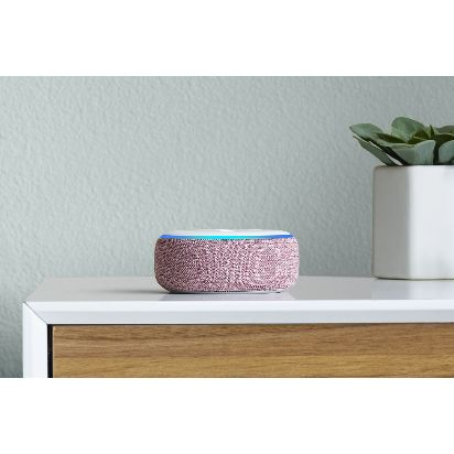 Amazon-Echo-Dot,-Plum,-on-dresser