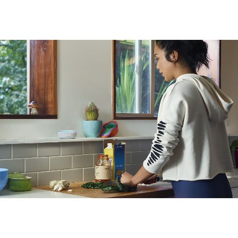 Amazon-Echo-Dot-with-Clock-on-kitchen-counter